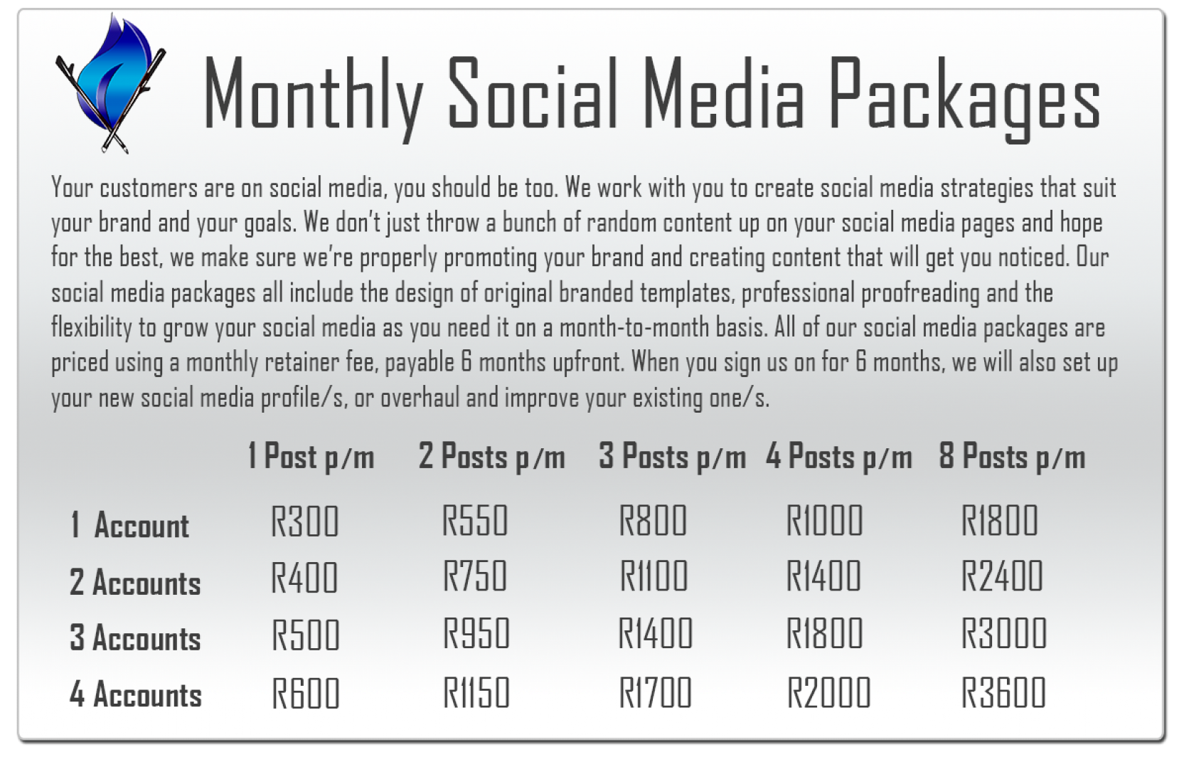Monthly Social Media Packages