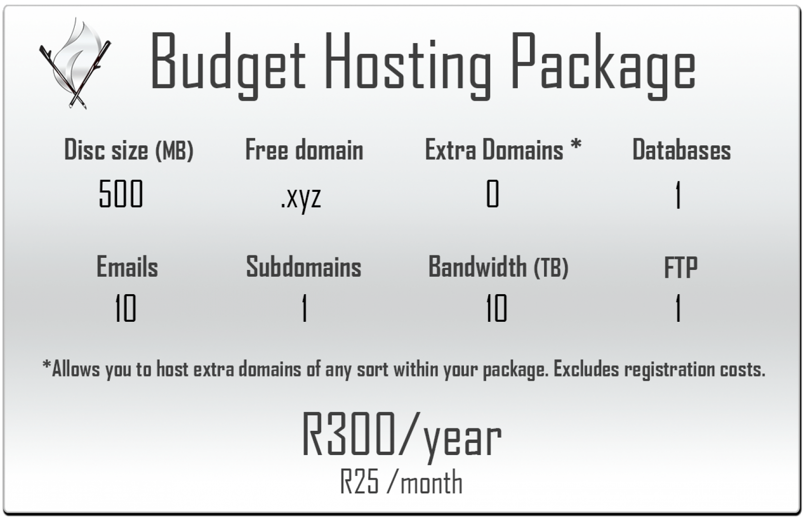 Budget Hosting Package