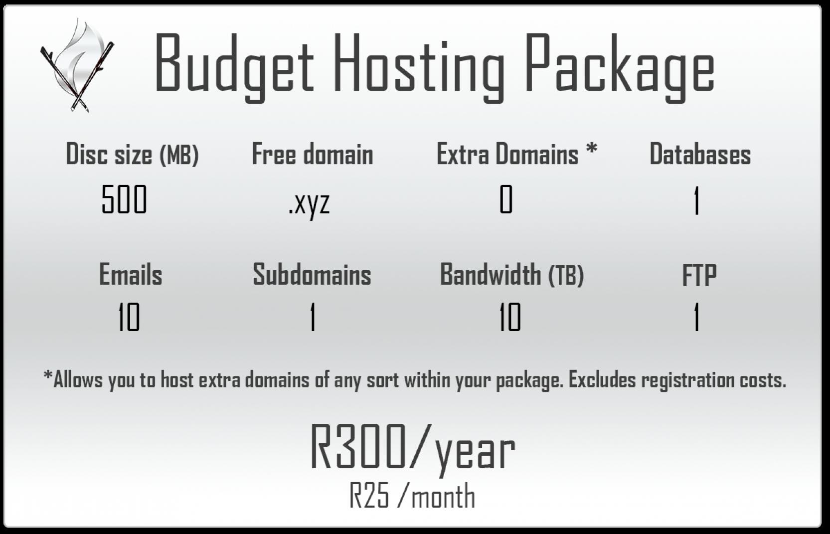 Budget Hosting Package